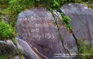 "Alex Mackenzie inscription ""Alex Mackenzie from Canada by Land 1793"